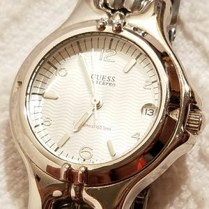 Guess Waterpro Silver Watch Luminous Hands